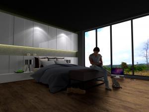 bedroom set interior design di jembatan lima, jakarta barat