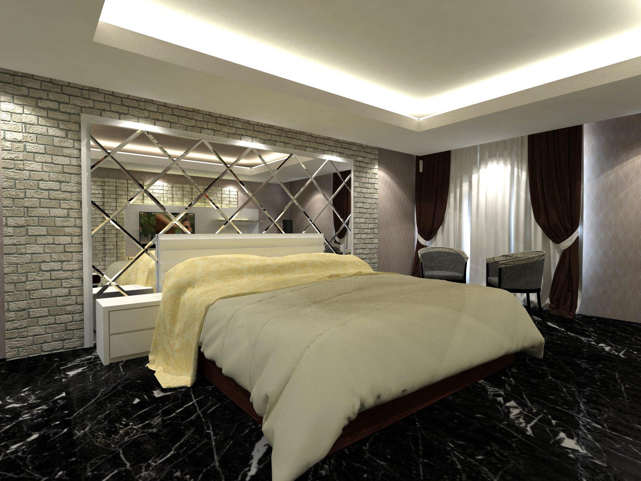 bedroom set interior design di meruya selatan, jakarta barat