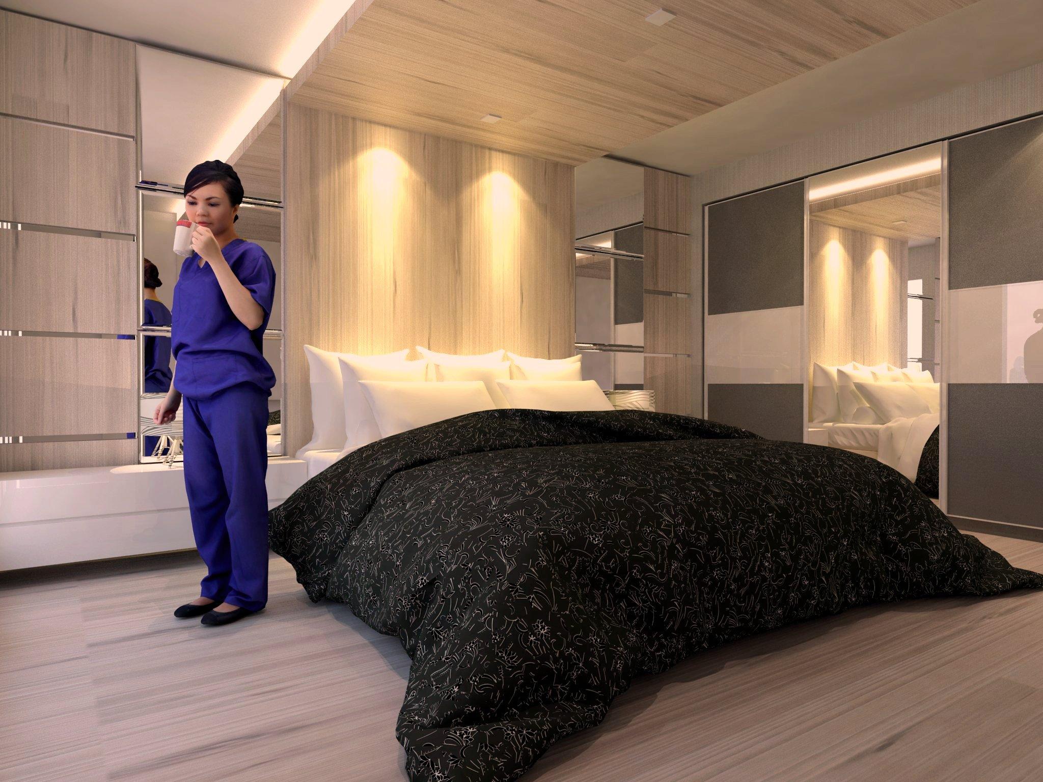 bedroom set interior design di roa malaka, jakarta barat