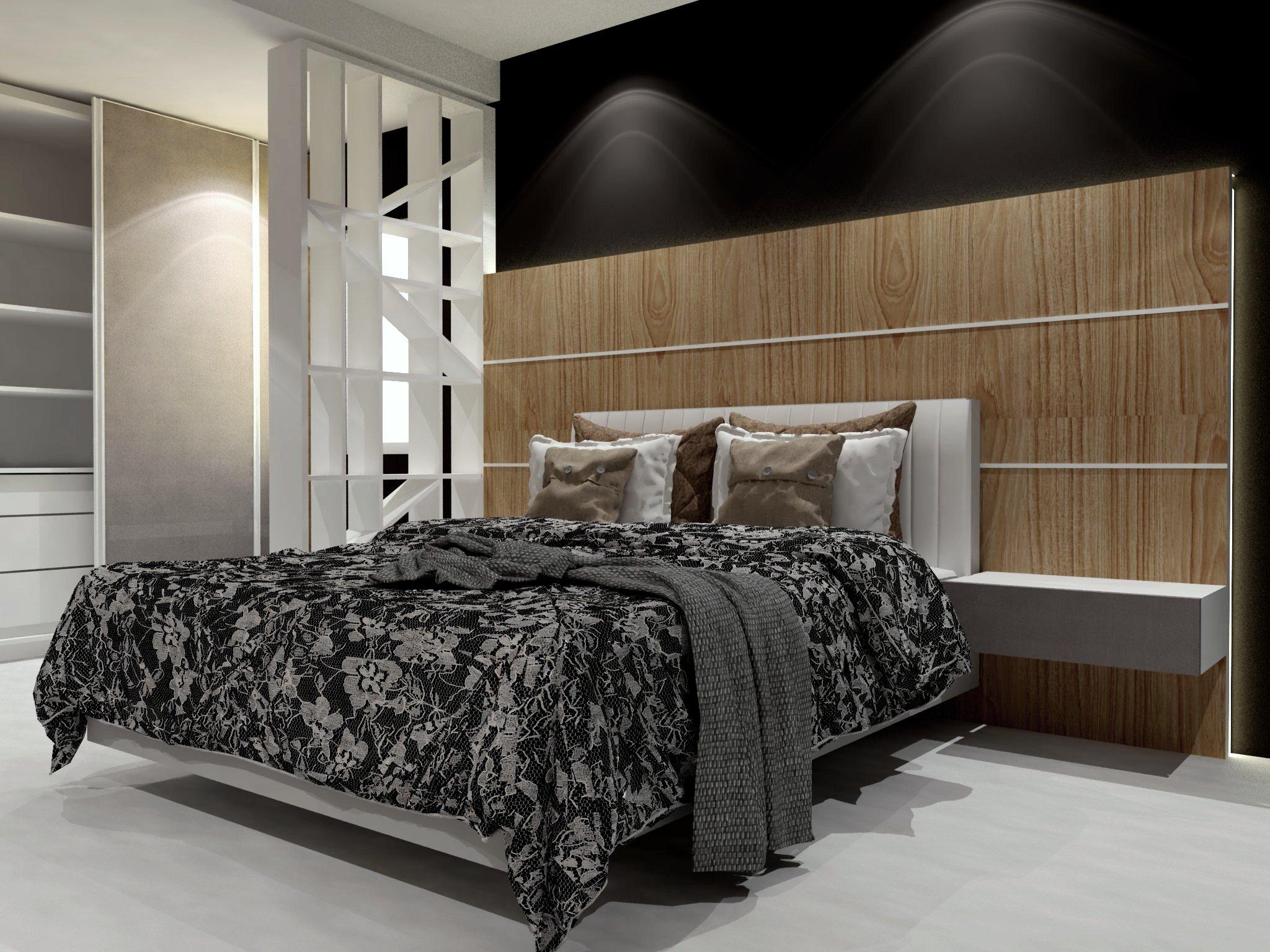 bedroom set interior design di pantai indah kapuk, PIK, jakarta utara