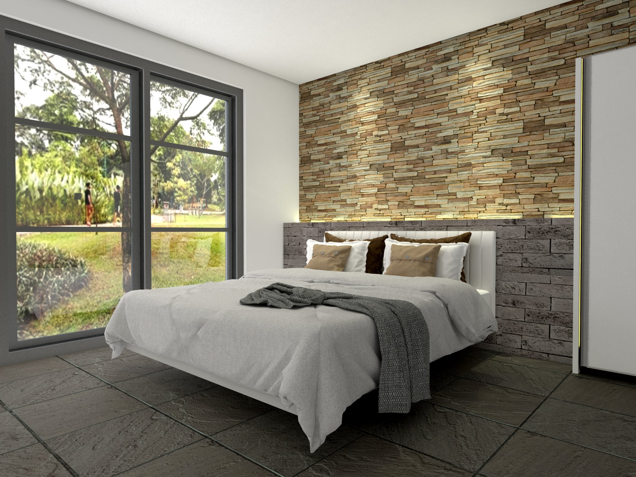 Interior desain apartemen permata hijau, jakarta barat